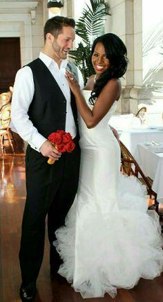 Gorgeous interracial couple wedding photography #love #wmbw #bwwm #swirl