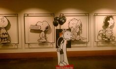 Greg meets Charlie and Snoopy.  At the Schulz Museum.
