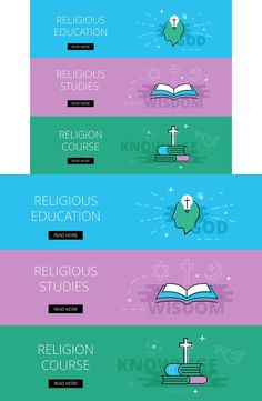 Religious Education banner set