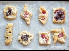 Danish Pastry Shapes - How many ways to shape cream cheese puff pastry danishes? - YouTube
