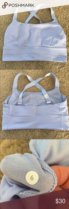 fd1169c324308 Lululemon sports bra with adjustable straps Adjustable straps to be worn  racerback or straight across - worn twice - brand new condition - very  supportive ...