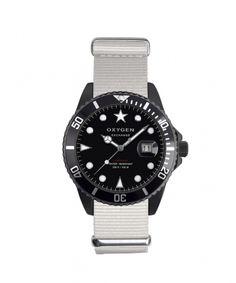 Montre EXCHANGE Diver Moby Dick Black 40mm par Oxygen Watch sur LESSisRARE.fr blanc 129.00€