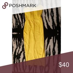 Yellow strapless dress A dress made for making a statement !! This  vibrant yellow strapless padded body con dress will hug you in all the right places ! PERFECT for summer ! Dresses Strapless