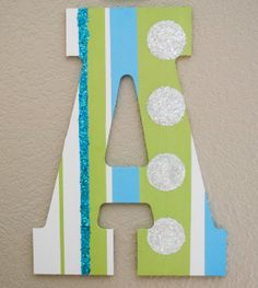 Hand painted wooden letters custom made for any room by AvAccents, $15.00