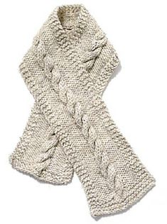 Lion Brand Pattern #: 60053 Cable Scarf