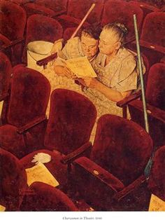 Charwomen in Theater - Norman Rockwell
