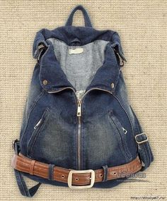 35 Denim Backpack Purse jeans bag navy backpack purse women canvasbags Source: website handmade cycled jean backpack purse handmade So. Diy Jeans, Sewing Jeans, Love Jeans, Denim Backpack, Denim Purse, Backpack Purse, Blue Jean Purses, Denim Art, Denim Ideas