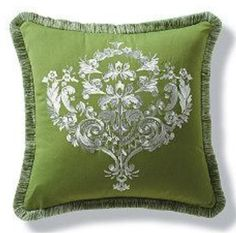 Green Pillow| Green Home Accents