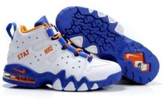 Nike Air CB 94 white/blue-orange basketball shoes for sale Nike Air Max 2, Nike Air Max Mens, Cheap Nike Air Max, Michael Jordan Shoes, Air Jordan Shoes, Kobe Shoes, Men's Shoes, Best Sneakers, Air Max Sneakers