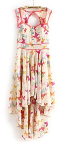 Butterflies hi-lo dress