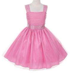 New Peaches N Cream Baby Girl/'s Hot Pink Jeweled Rosette Tulle Bubble Outfit