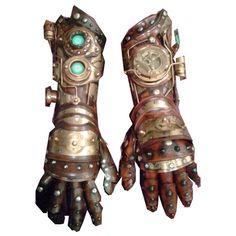 Steampunk Bracers ❤ liked on Polyvore featuring steampunk, accessories, gloves, weapons and armor