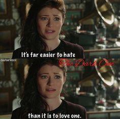 Belle talking to Hook