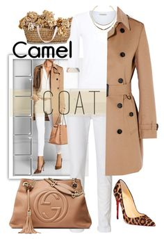 """""""Camel Coat"""" by easy-dressing ❤ liked on Polyvore featuring Burberry, rag & bone, Gucci and Christian Louboutin"""