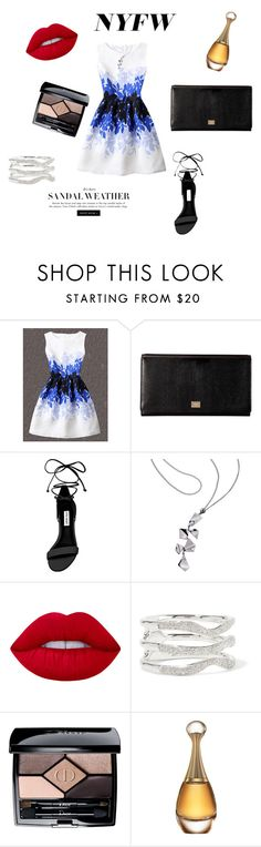 """""""Grammy's"""" by anais-wardrobe on Polyvore featuring mode, Dolce&Gabbana, Steve Madden, Lime Crime, Monica Vinader et Christian Dior"""