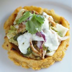 Tandoori chicken + Mexican sope = Delicious fusion of mexican and indian