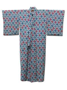 ☆ New Arrival☆ 'Flower Press' #womens #silk #vintage #Japanese #kimono with a smart #geometric #floral motif design which is #hanabishi (#flower -shaped family crest) from #FujiKimono http://www.fujikimono.co.uk/fabric-japanese/flower-press.html