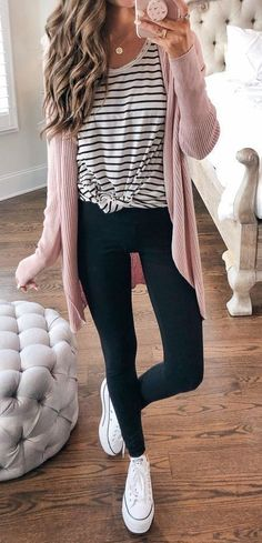 Casual Fall Outfits, Fall Winter Outfits, Spring Outfits, Winter Style, Cheap Fall Outfits, Casual Summer, Casual Shopping Outfit, Casual Teacher Outfit, Feminine Fall Outfits