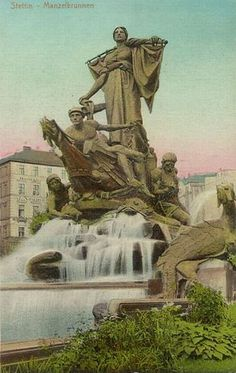 Szczecin - Wikipedia, the free encyclopedia.  Sedina Monument (1899–1913). Sedina was a personification of Stettin. The statue was scrapped for copper in 1942, and after the war it was replaced with an anchor. In 2012 the authorities approved plans for a reconstruction of the statue.