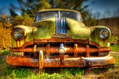 Rustic Photography  Rusty  Old  Green Car  by JoshFriedmanPhoto, $25.00