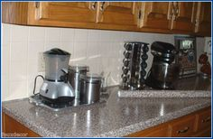 """Instant Granite - Instant Granite """"peel and stick""""Film for Countertops... we could DEFINITELY do this"""