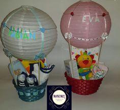 Cesta globo niños personalizada