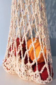 Large Crochet Market Bag