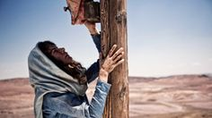 Roma Downey as Mary in Son of God Movie. At the cross with Jesus.