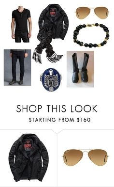 """""""Sunday"""" by alecrsutton on Polyvore featuring John Varvatos, Superdry, Ray-Ban, men's fashion and menswear"""