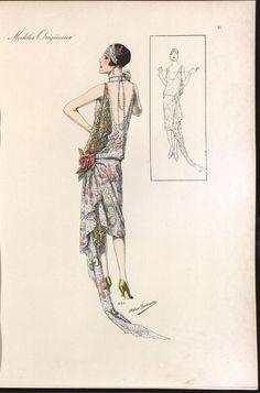 Fashion 1920s, Retro Fashion, Fashion Photo, Fashion Art, Vintage Costumes, Vintage Outfits, Vintage Fashion Sketches, Patron Vintage, Dress Drawing