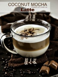 Coconut Mocha Latte #recipe #homemade @SECooking | Sandra | Sandra