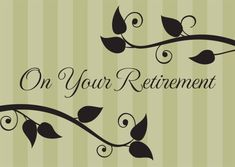 Retirement celebration card for the retiring employee pinterest green stripes retirement card new greeting cards from brookhollow m4hsunfo