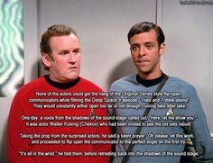"DS9-TOS  The old crew teaching a new crew how to ""flip open"" the communicator  #startrek  #deepspacenine"