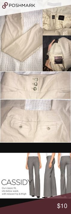 """⚡️The limited Cassidy fit dress pants Beige Cassidy fit dress pants. Triple marble button at waist.  Fashionable wide leg.  Excellent condition, just don't fit me.  See the """"Cassidy fit"""" style in pic. The Limited Pants Boot Cut & Flare"""