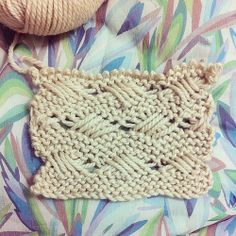 Indian cross kniting stitch #aprendiendo #learning #knitting #wool #woollovers
