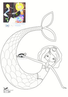 mermaid, sea, paper toys