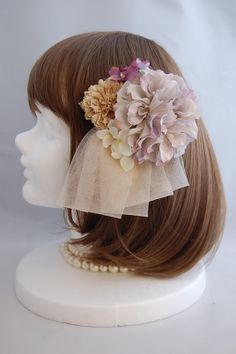 ヘッドドレス アンティークブーケ antique bouquet ab-008 Flowers In Hair, Fabric Flowers, Wedding Accessories, Hair Accessories, Wedding Notes, Japanese Wedding, Doll Wigs, Wedding Images, Party Fashion