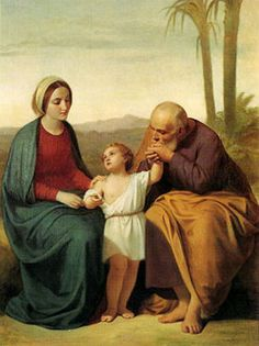 A very sweet painting of the holy family. Look at Joseph kissing baby Jesus' hand. Catholic Religion, Catholic Art, Religious Images, Religious Art, Jesus Jose Y Maria, Jesus Childhood, Mother Art, Mama Mary, Family Painting