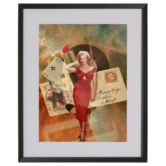 Lamina collage Marilyn on stars de Poppy Girl Illustrations por DaWanda.com
