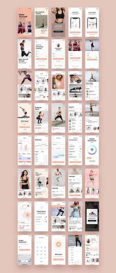 App Ui Design, Mobile App Design, Design Design, Flat Design, Ui Kit, Design Thinking, Motion Design, Ecommerce App, Sports App