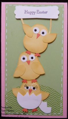 Chicks, Happy Easter Card