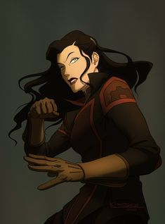 dark long hair female avatar | Tags: Anime, Official Art, Avatar: The Legend of Korra, Bryan ...