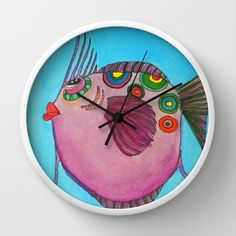 FREE WORLDWIDE SHIPPING!!!!! LARRY Wall Clock by Caribbean Critters Co. - $25.00
