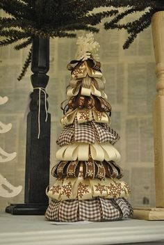 Holiday ribbon tree