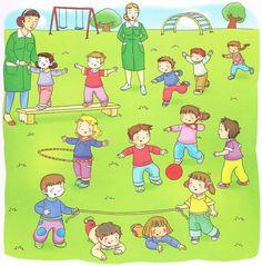Praatplaten spelen in het park