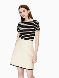 scallop tweed skirt | Kate Spade New York