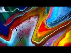 FLUID ACRYLIC PAINTING TECHNIQUES. - YouTube