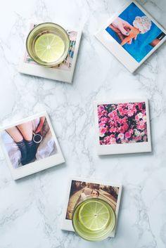 DIY: polaroid coasters