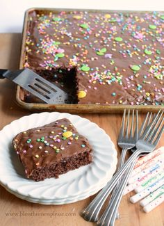 Grandma Shoaf's Quick and Easy Chocolate Sheet Cake