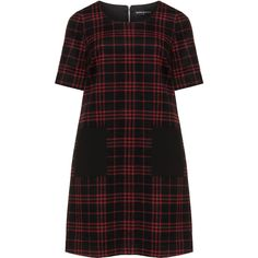 Manon Baptiste A-line plaid dress ($289) ❤ liked on Polyvore featuring dresses, vestidos, flare dress, kohl dresses, plaid dress, grunge dress and black dress